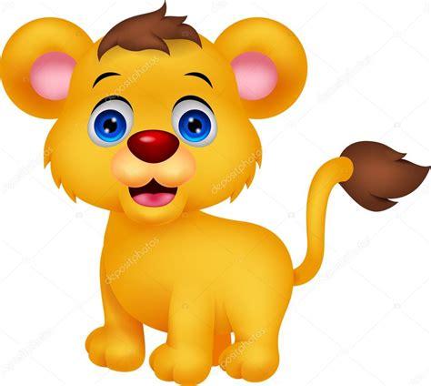imagenes de leones bebes animados caricatura lindo beb 233 le 243 n vector de stock 49595037