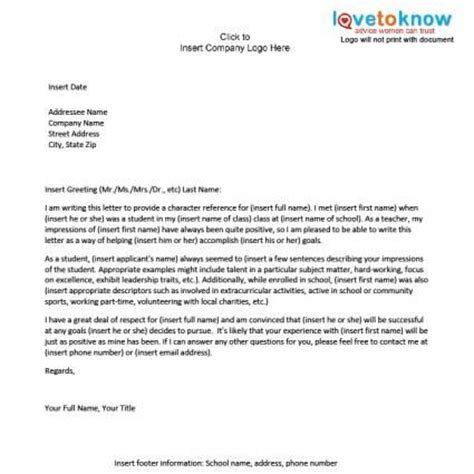 Reference Letter Information Character Reference For A Student References Information A Student Student