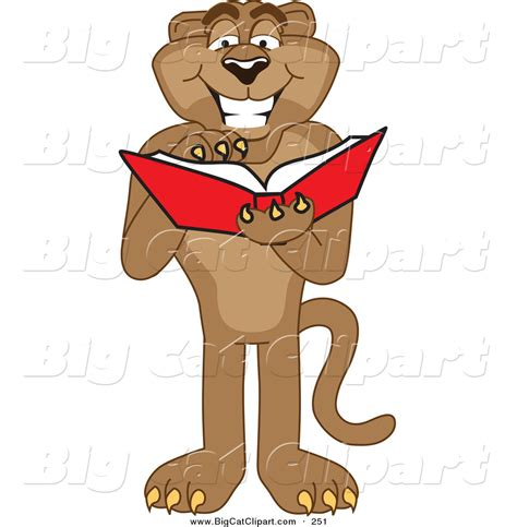 mascot clipart royalty free book stock big cat designs