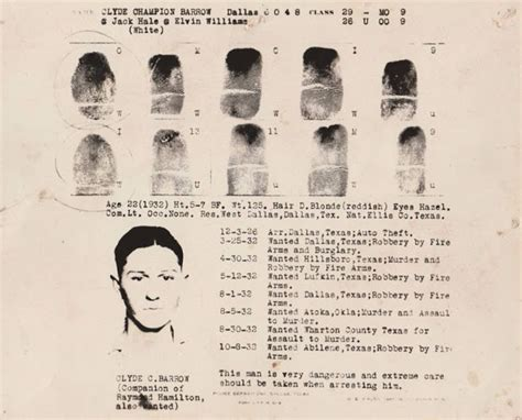 Bonnie And Clyde Criminal Record Photographs Of Bonnie And Clyde Show Them At The End Of Their Lives Vintage