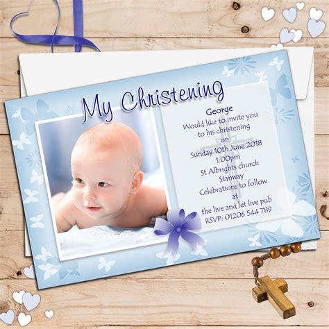Mug Souvenir Bday 5 10 personalised boys christening baptism invitations photo