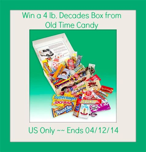 Free Candy Giveaway - enter to win a 4lb box of old time candy ends 4 12
