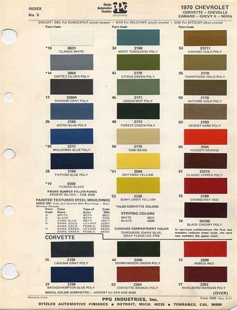 1970 chevy paint colors color palettes patterns