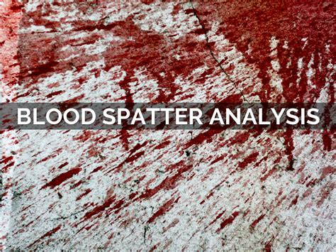 blood spatter analysis jobs blood spatter analysis by zschlee