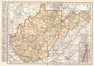 Affordable Home Decor Online Items Similar To West Virginia Map Vintage 1935 Original