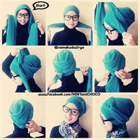 tutorial hijab turban hari raya cool turban hijab tutorial wrap it up pinterest