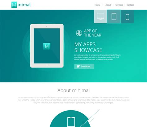 free minimal html template minimal a flat style bootstrap responsive web template by