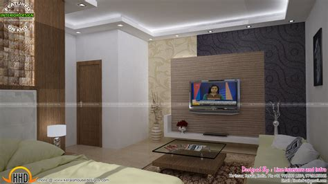 bedroom  kitchen interior decor kerala home design