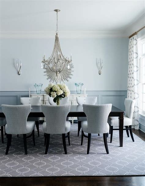 blue dining room table grey and blue dining room transitional dining room