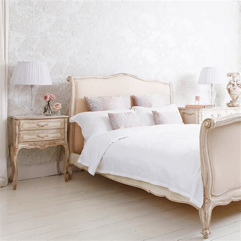 bed in french delphine french upholstered bed king discover more