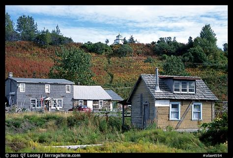 villages in usa picture photo old wooden houses in village ninilchik