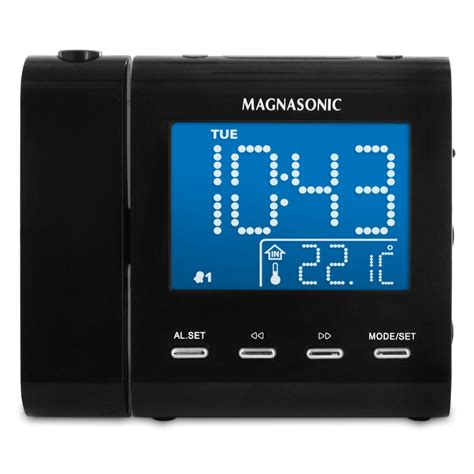 Bedroom Alarm Clock Radio Wall Ceiling Projection Up Sleep Bedroom Alarm Dual