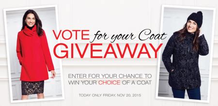 Free Coat Giveaway - free cleo winter coat giveaway free stuff finder canada