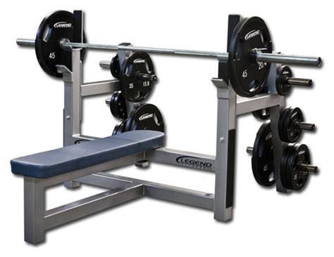 olympic bench press flat olympic bench press w plate storage legend fitness 3150