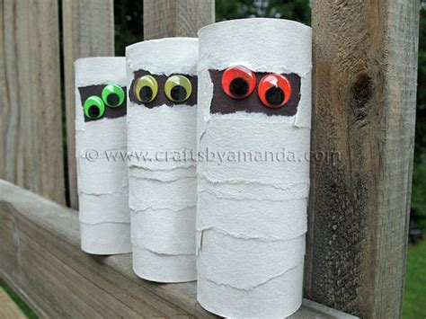 Mummy Toilet Paper Roll Craft - cardboard mummies crafts by amanda