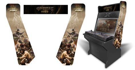 sit down arcade cabinet 187 customer submitted gauntlet inspired graphics theme for