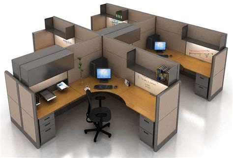 Office Furniture Cubicles Featherlite Workstation Cubicles For Cost Efficient Office