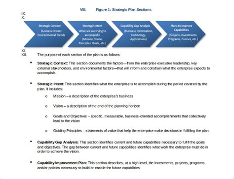 strategic plan outline template 18 strategic plan templates free sle exle