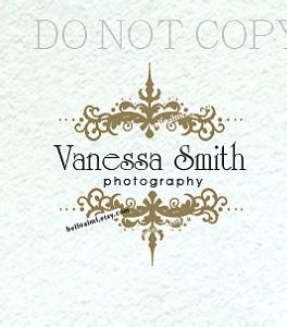 damask logo french style vintage business logo vintage
