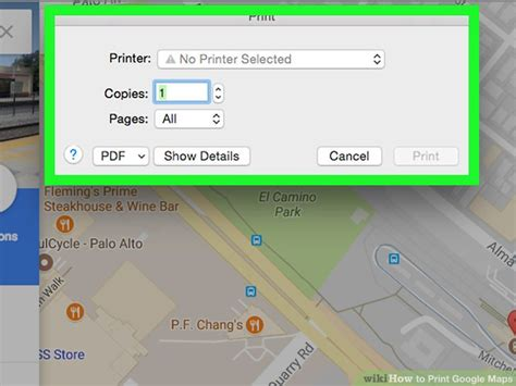printable version google maps 4 easy ways to print google maps with pictures wikihow