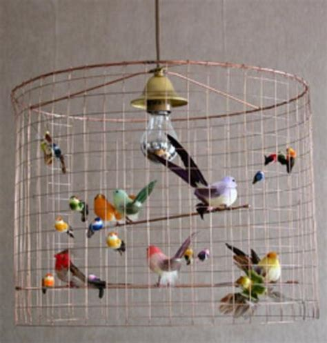 modern home lighting fixtures with birds decorations