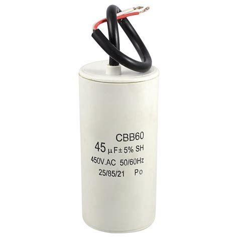 kapasitor non polar 47 uf 450vac white plastic shell 45uf 50 60hz 450vac cbb60 motor start capacitor dw ebay