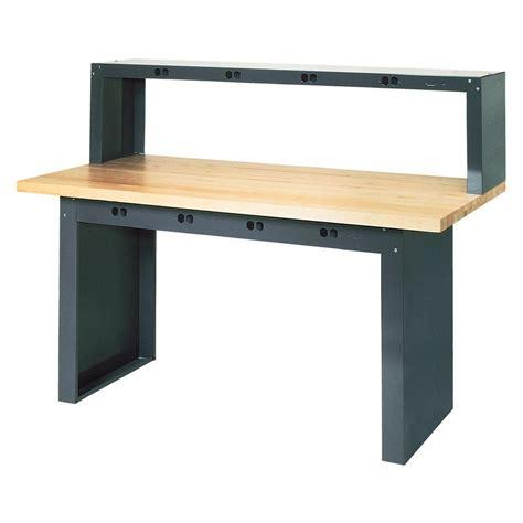 homedepot work bench gladiator 8 ft hardwood top adjustable height workbench