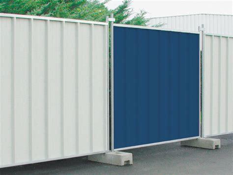recinzione mobile recinzione temporanea da cantiere in lamiera ondulata