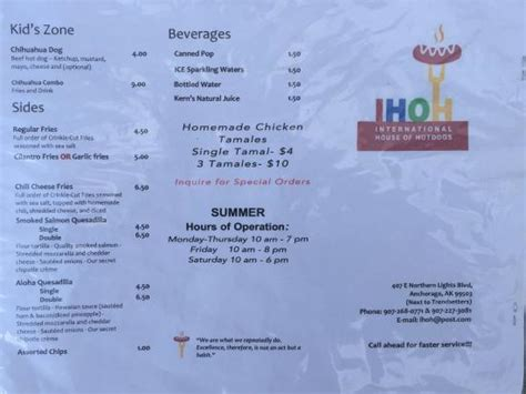 international house of hot dogs menu picture of international house of hot dogs anchorage tripadvisor