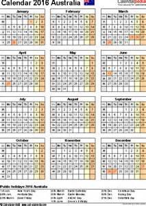 Calendar 2014 Template Australia by Australia Calendar 2016 Free Printable Pdf Templates