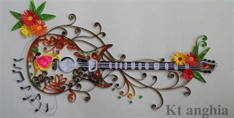 quilling guitar tutorial beautiful quilled guitar by kt anghia of le quilling