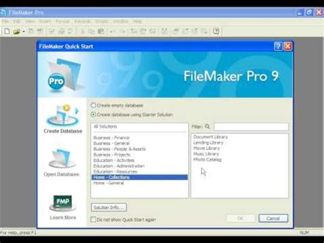 Learn Filemaker Pro 9 Opening And Saving Templates By Dvd Softwarevideo Com Grabtraining Com Free Filemaker Templates