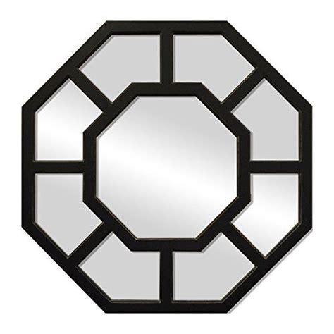 aluminum framed wall mirror 24 quot octagon black sheffield