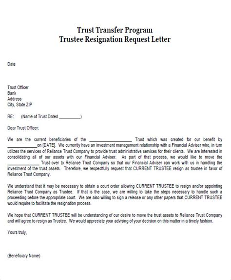 charity update letter charity trustee resignation letter 28 images 28