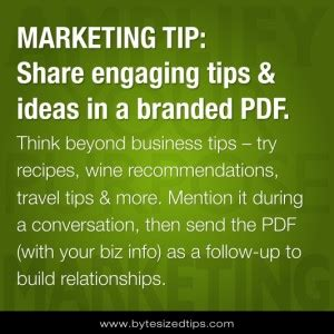 how to share engaging tips & ideas in a branded pdf the