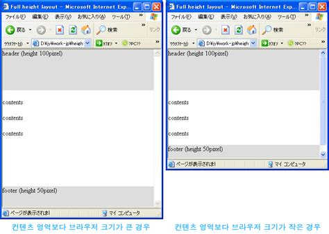 100 height layout with header and footer ludin s story footer가 항상 브라우저 하단에 위치하는 높이 100 레이아웃