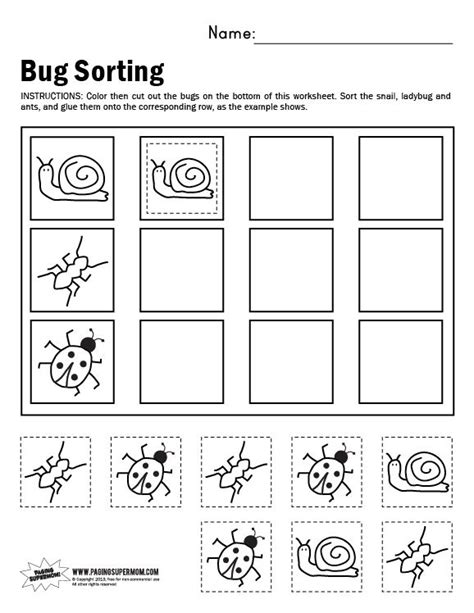 printable sorting shapes sorting worksheet for kindergarten kindergarten