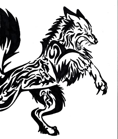 werewolf tribal tattoo vintage tattoos galleries tribal wolf