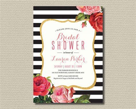 printable black and white bridal shower invitations printable bridal shower invitation black and white
