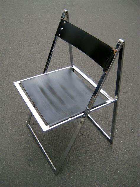 stuhl leder details zu stuhl klappstuhl leder chrom design klassiker