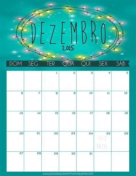 Calendario Dezembro 2015 Calend 225 Dezembro 2015