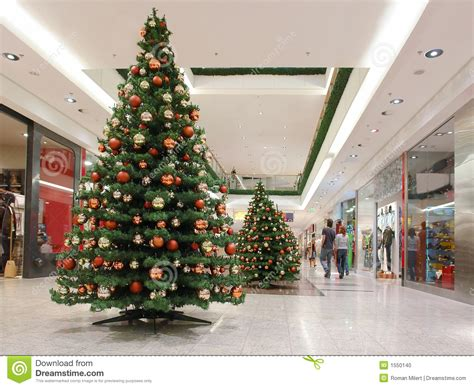 tree shopping shopping mall during time stock photo image 1550140