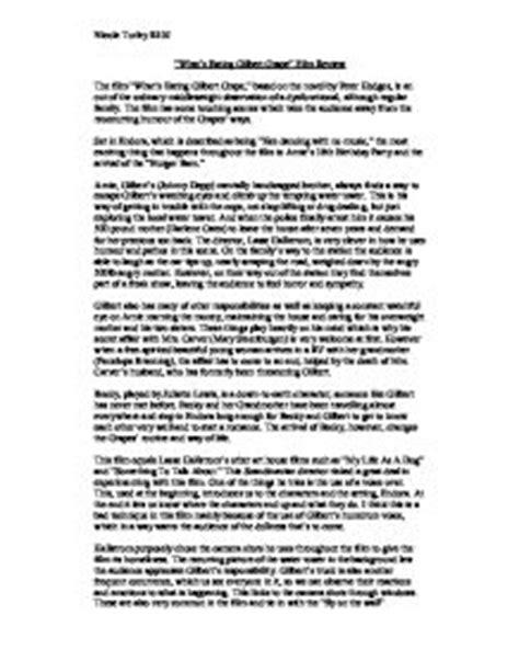 Gilbert Grape Essay by What S Gilbert Grape Essay Writefiction581 Web Fc2