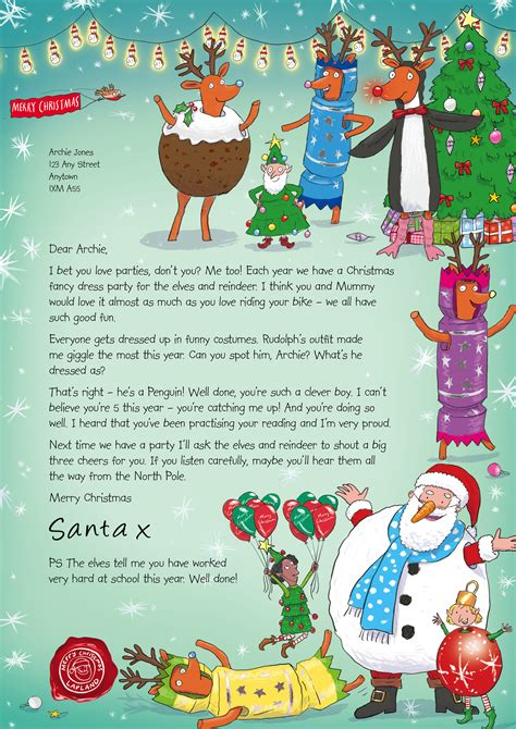 charity santa letter nspcc letters from santa of one