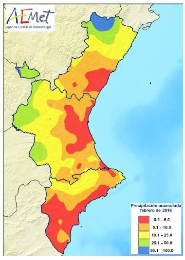 ajd a febrero 2016 en comunidad valenciana febrero de 2016 muy c 225 lido y muy seco en la comunidad