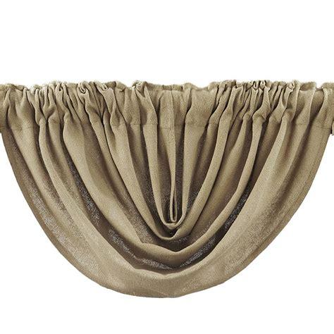 Country Style Drapes Burlap Natural Balloon Curtain Valance