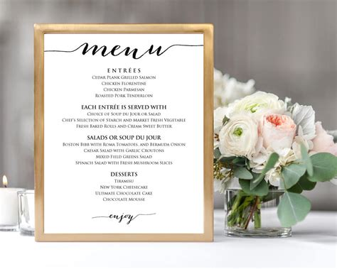 menu templates for weddings wedding menu templates 183 wedding templates and printables