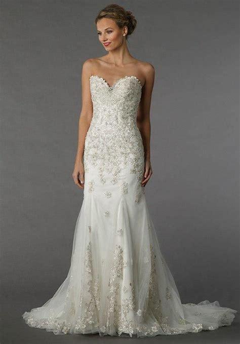 Almera Dress dennis basso for kleinfeld gown with sweetheart neckline