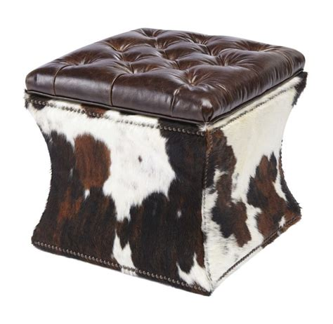 cow hide ottomans cow hide ottoman i m a bit country