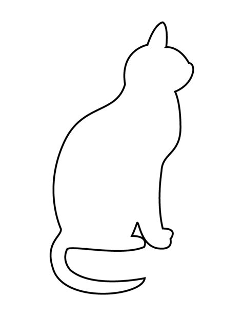 cat simple easy cat outlines pictures to pin on pinsdaddy
